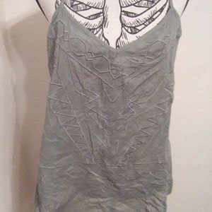 BNWT Maurices Embroidered Racerback Tank Sz L